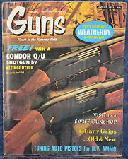 Magazine *GUNS* August, 1972 !!SMITH & WESSON TIP-UP Second Model .32 REVOLVER!!