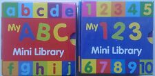 Preschool My ABC and 123 Mini Library - Set Of 6 board Books (12 books in total)