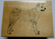 Stamp Gallery Akita Puppy Dog Woodern Rubber Stamp Crafting