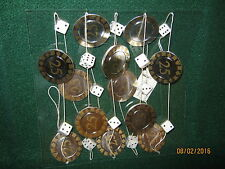 Poker Chips (12 @ $25) Dice (6 Pair) NEW on a 6' String