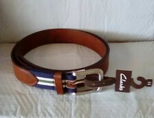 CLARKS Mens Casual Belt Leather Classic Jean Belt Size 44 NWT!!!