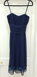 Ted Baker Navy Strappy Dress Size 10 Size 2