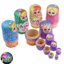 5pcs/Set Wooden Dolls Russian Nesting Babushka Matryoshka Hand Painted Toy Gift