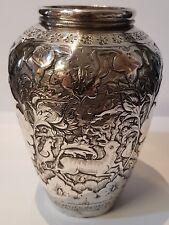 .800 plata (XRF probado) Aprox 180 Gr Florero Antiguo Altura de 11cms (P000410)