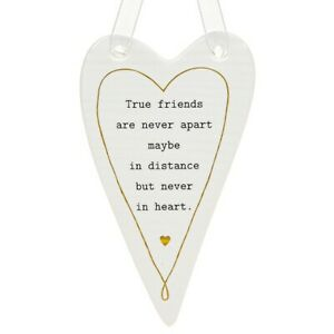 Thoughtful Words Plaque : True Friends are Never Apart ....