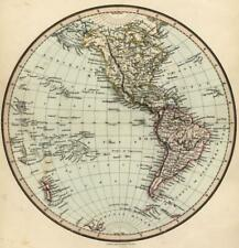 Western Hemisphere North America South America Polynesia c. 1850 Tegg map