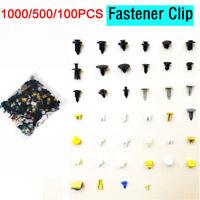 500Pcs Mixed Auto Car Fastener Clip Bumper Fender Trim Plastic Rivet Door Panel~