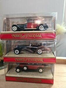 7/ matchbox models of yesteryear lot de 3 miniatures