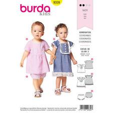 Burda Sewing Pattern 9339 Babies Toddlers 6m - 3 Years Easy Dress Top Panties