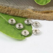 50 Pcs Tibetan silver twist circle findings h0125