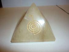 cristalloterapia PIRAMIDE GRANDE QUARZO ORO REIKI qualità A++ piramidoterapia