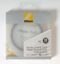 Nikon NC Neutral Color filter protection UV 58mm