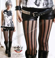 Runway Punk Gothic Opaque Sheer Stripe Tights Pantyhose