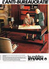 PUBLICITE ADVERTISING 054  1971  STRAFOR   mobilier bureau