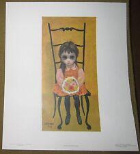 "Vintage 1962 Margaret Keane print  ""Waiting for Grandmother"" - big eyes girl"