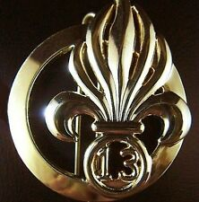 FRENCH FOREIGN LEGION 13e D.B.L.E. INFANTRY BERET BADGE CURRENT ISSUE      -01
