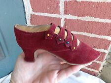 VINTAGE VICTORIAN STYLE VELVET SLIPPER SHOE NOVELTY PIN CUSHION ESTATE FIND