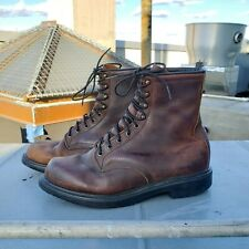 Red Wing Shoes Brown Leather 1210 Work Boots Workwear Mens Sz 9 Made in USA