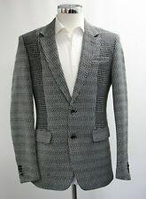 Men's Unbranded Black & White Blazer Jacket (40)..Sample 4524