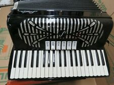 Accordion Black & White Special By Sonola Piano Musical Instrument s/n 9047