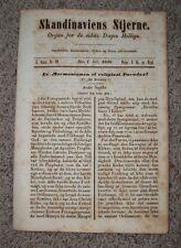 SCANDINAVIAN STAR July 1856 LDS Mormon SKANDINAVIENS STJERNE Magazine