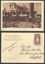 1937 REGNO CARTOLINA ANNULLO GIORNATA FILATELICA ROMA - PICCOLO TAGLIO - X1