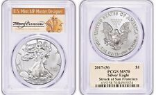 New listing  2017 (S) $1 American Silver Eagle Pcgs Ms70 Thomas Cleveland Population Just 134