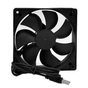 DC 5V USB Powered Mini 120mm Portable Cooling Fan Silent Cooler For PC Desktop