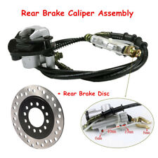 Rear Hydraulic Brake Assembly Master Cylinder Caliper+Disc Rotor for ATV Go Kart
