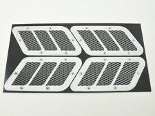 Lufteinlass Aufkleber Set 4x ca. 125 x 55 mm universal  Neu