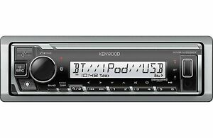 Kenwood KMR-M328BT Marine Motorsports Bluetooth Stereo Digital Media Receiver
