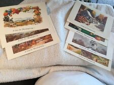 THE AMICA INSURANCE COMPANY Thanksgiving Cards (8) Cards ,1950's Artists