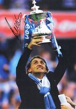 Signed Roberto Mancini Manchester City Autograph FA Cup Photo Italy