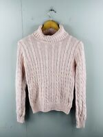Tommy Hilfiger Women's Vintage Long Sleeve Turtle Neck Knit Pullover Size S Pink