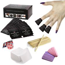 Gel Nail Polish Remover Kit Acetone Wrap + Meltblown Wipe Nail File Orange Stick