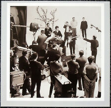 THE BEATLES POSTER PAGE . 1964 FILMING TV SHOW GEORGE HARRISON & PAUL . H41