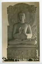 "Antique Buddha Statue RPPC Photo in Temple ""Now in Museum"" 1910s"