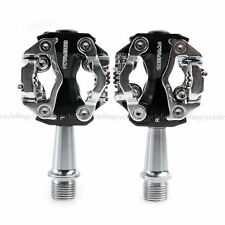 """Zeray SPD Compatible Pedals Clipless Road Mountain Bike Black Pedals 9/16"""""""