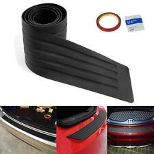 Car Rear Bumper Guard Rubber Protector Cover Sill Plate Trunk SUV Pad Kit Trim