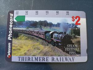 Mint $2 Thirlmere Railway Steam Festival 1995 Phonecard Prefix 679