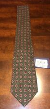 Polo Ralph Lauren Tie Wool Green Red Geometric All Over Made in Italy $125