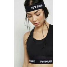Ivy Park Beyoncé Womens Sz XXS Sports Bra Mesh Black Adjustable Band Logo