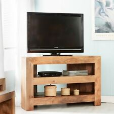 Open Corner TV Media Unit with 2 shelves Ajak Light Mango LM26