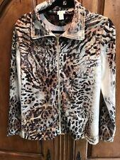 Chico's Zenergy Leopard Print Zip up Size 1 New