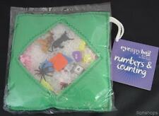 Eyespybag Green Fleece bag with vinyl window eye I spy numbers & counting