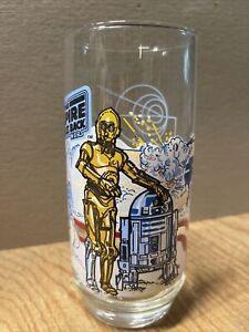 Vtg Coca Cola Burger King Star Wars The Empire Strikes Back R2-D2 C3PO Glass