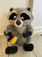 "Disney's Pocahontas MEEKO Raccoon Plush Stuffed Animal! 14"" Meeko Plush w/Cookie"
