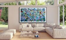 Chris Riggs NYC abstract painting big huge art work blue modern contemporary pop