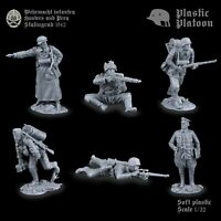 PLASTIC PLATOON Toy soldiers Plastic Platoon German snipers WW2 New release.