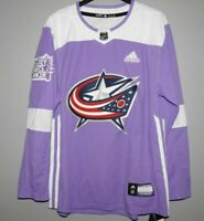 Authentic Adidas NHL Columbus Blue Jackets Hockey Fights Cancer Hockey Jersey